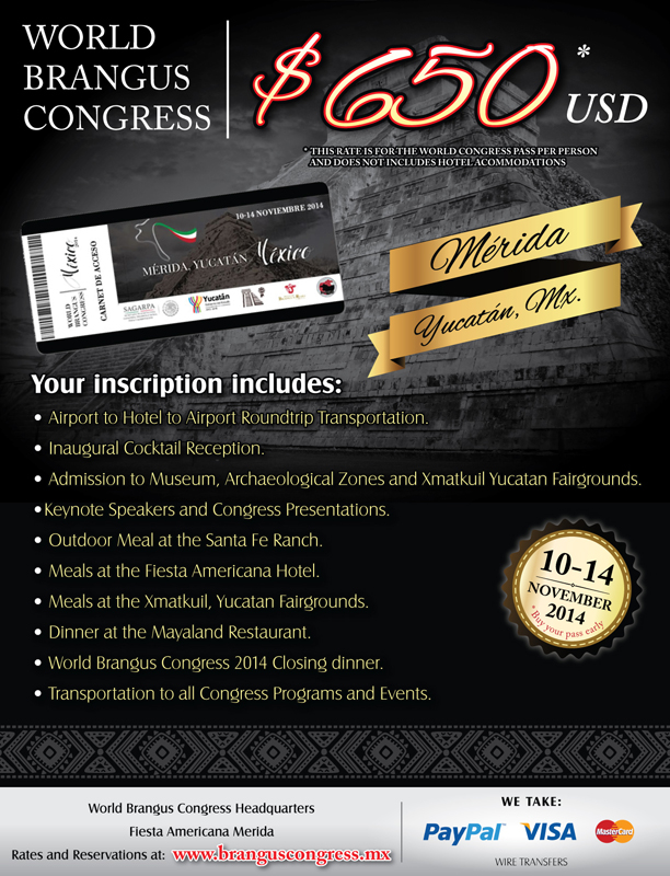 Details about the 2014 World Brangus Congress
