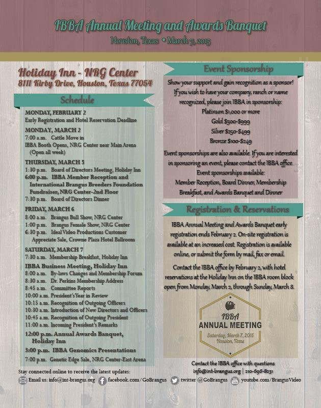 IBBA schedule